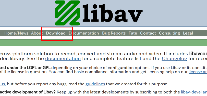 Linux で libav と ffmpeg のインストール