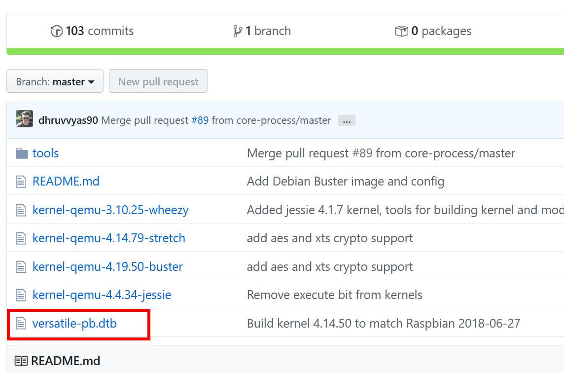 Ubuntu で Raspbian システムを起動(QEMU, qemu-rpi-kernel を使用)