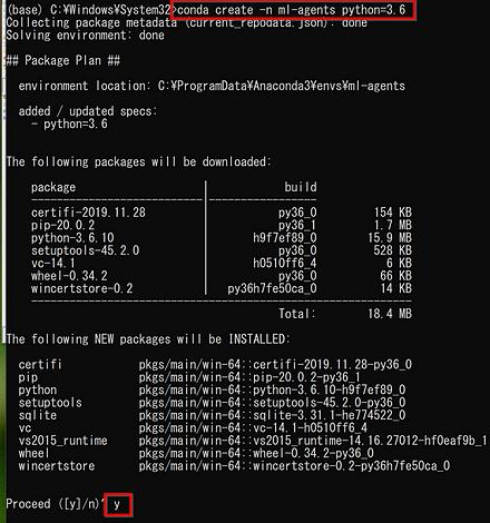 Windows で Unity ML-Agents + Python 環境を作る(Chocolatey