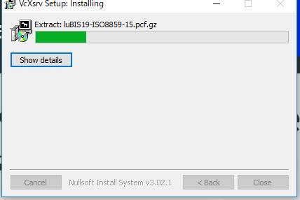 VcXsrv のインストール(Windows 上)